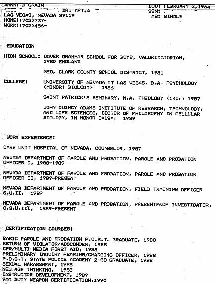 Doctorate of education resume